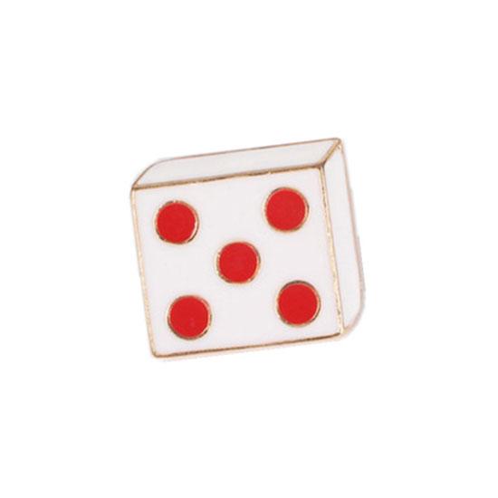 Rolling Dice Pin Badge