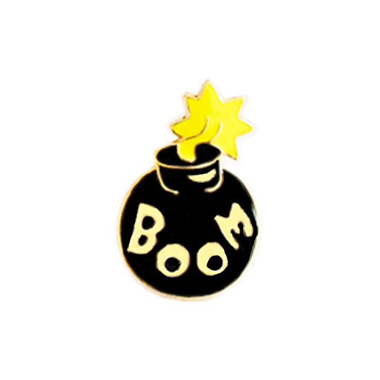 Bomb Pin Badge