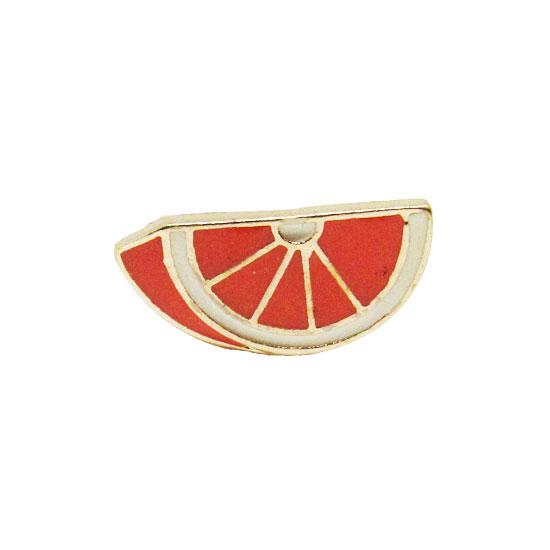 Orange Slice Pin Badge
