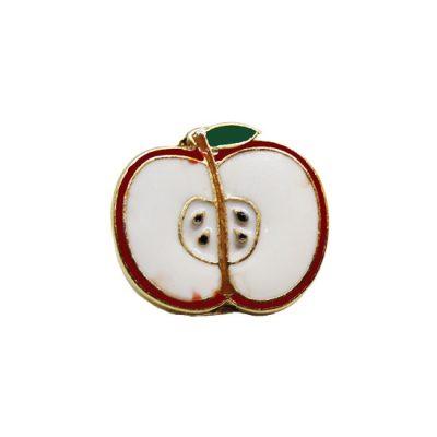 Half Apple Pin Badge