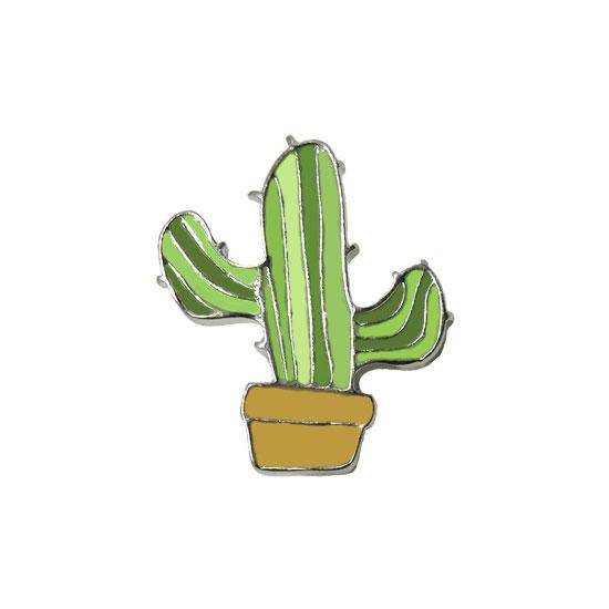 Cactus Plant Pin Badge