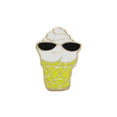 Cool Ice Cream Pin Badge