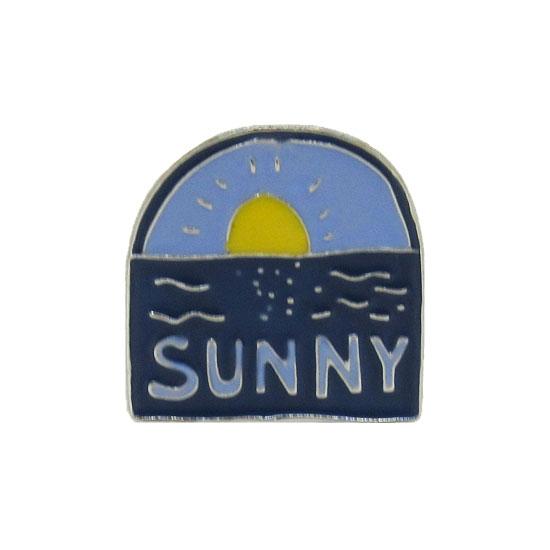 Sunny Pin Badge