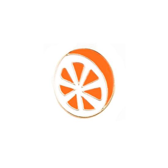 Orange Pin Badge
