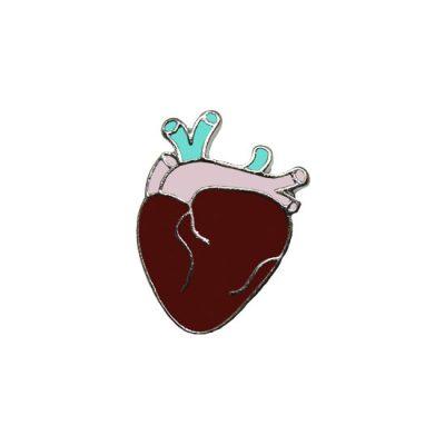 Human Heart Pin Badge