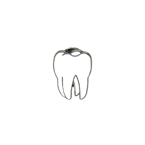 Pearly White Tooth Pin Badge