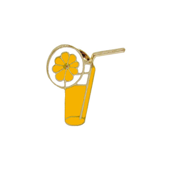 Orange Juice Pin Badge