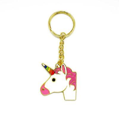 Unicorn Emoji Keyring