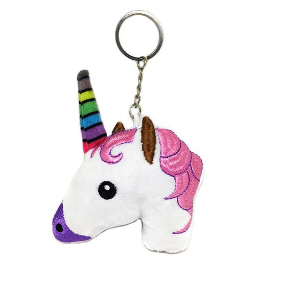Plush Unicorn Keyring