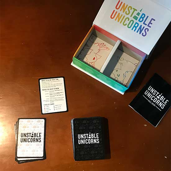 Opening Unstable Unicorns Box