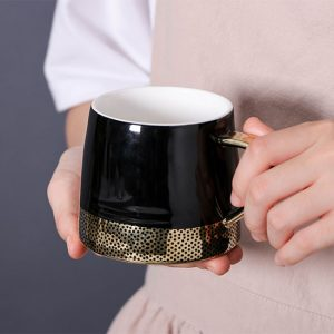Black Metallic Spot Mug