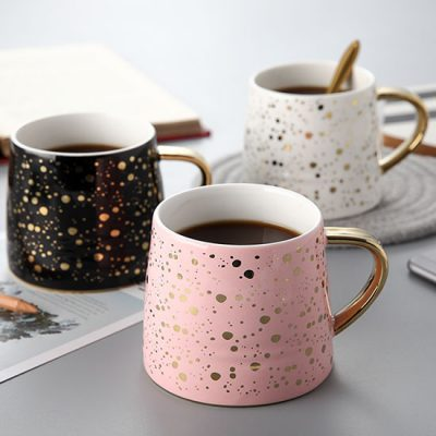 Metallic Gold Speckled Mugs