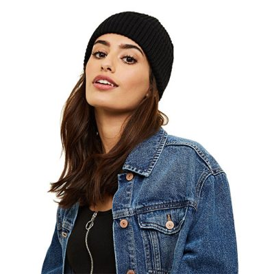 Black Beanie Hat For Her