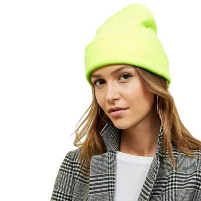 Neon Green Beanie Hat For Her