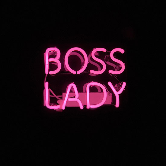 Boss Lady Pink Neon Light
