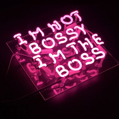 Im The Boss Pink Neon Light