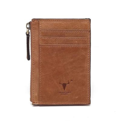 Men's Coin and Card Holder Tan