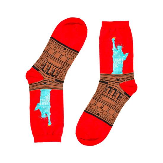 Statue of Liberty Novelty Socks