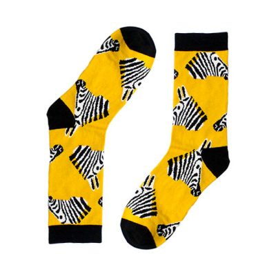 Zebra Head Novelty Socks