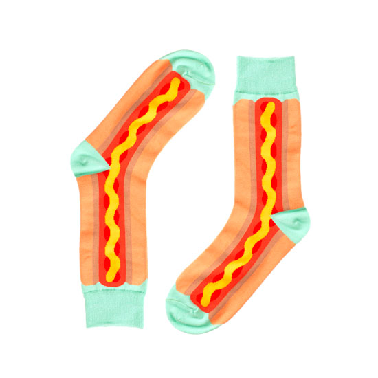 Hotdog Novelty Socks