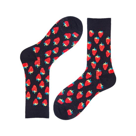 Novelty Strawberry Socks