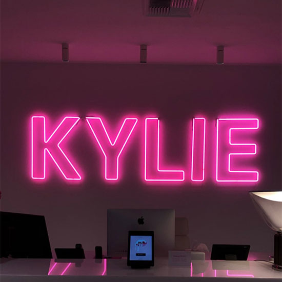 Kylie Jenner Custom Neon Sign